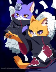 Pain And Konan Neko by The13Daniih