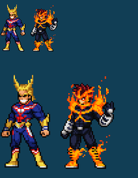 All Might and Endeavor JUS by Zeh1999