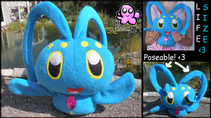 Lifesize Manaphy plush by PinkuArt
