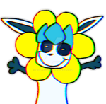 (Lilclad's repload picturs) Flowey the galceon? by kill-soni