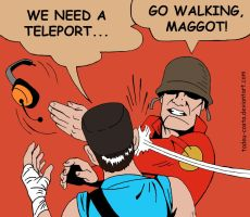 Team Fortress 2 - Soldier slap scout by Tadeu-Costa