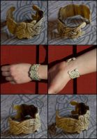 Hand of Fate Horn Bracelet by Wodenswolf