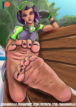 Sombra's Feet [COMM] by KasumiKills