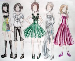 Fashion Design sketches by Tamao