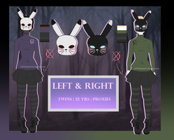 { Slenderverse OCs } Left and Right by Scarmmetry