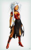 Hild in Red by EastCoastCanuck