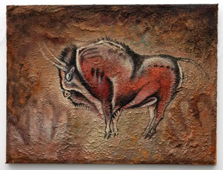 Altamira Bison painting by hontor