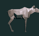 Low-poly Moose by Flubberwurm
