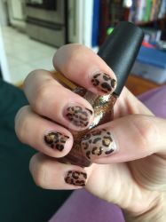 Leopard nails 2 by Goddess-Suicune