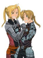 Edward and Alphonse Elric by byYorik