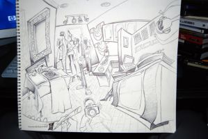 Doodling at a Friend's House by braeonArt