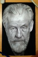Ian Mckellen speed drawing by AtomiccircuS