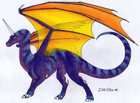 Purple Unicorn Dragon by TurtleClairou