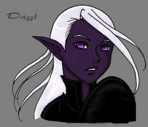 Profile_Drizzt_Colored by Drizztspriestess