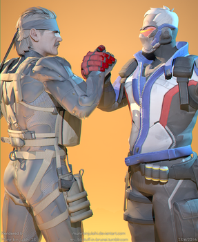 COMRADES-IN-ARMS (MGS x Overwatch) by MunirBinJulaihi