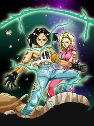 Android 17and 18 by WadeVezecha