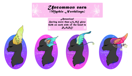 Mythic Northlings Uncommon ears! (My species) by Niniibear