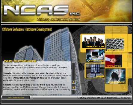 NCAS Inc. Website by andrew01riza