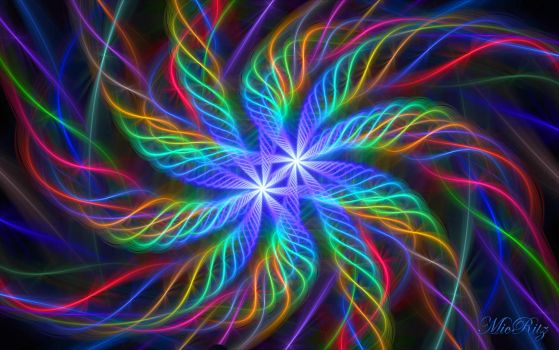 Rainbow Flowers Fractal by MicRitz