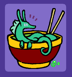 there's a noodle in my noodles! by SqueakyWolff
