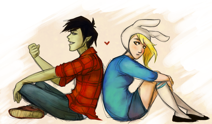 Marshall Lee and Fionna by Appelmos