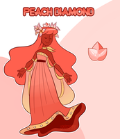 Mystery Adopt Reveal: Peach Diamond by undercoverghost