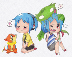 Poke-friends chillin'