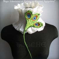 Saint Patick Peacock Scarf by TianaChe