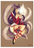 Ahri - League of legends by Irhi-Leth