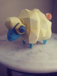 Mareep papercraft by Amber2002161