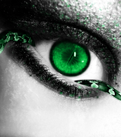 Green Snake Eye by Crazy-Kiwii