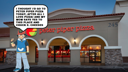 Ash Goes To Peter Piper Pizza by MollyHaleIsMyFriend
