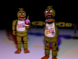 Cinema4D Withered Chica! by GaboCOart