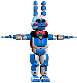 C4d   Funtime bonnie   WIP by LuckyRabbit31