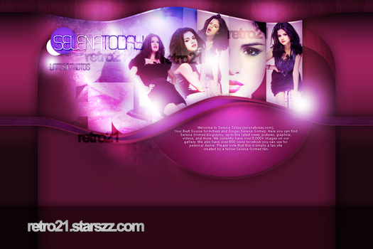 Selena Gomez Layout by R21Art