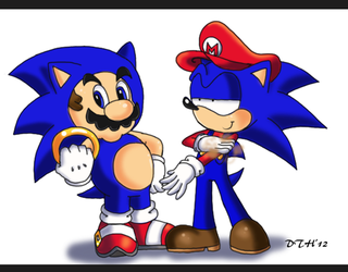 Mario and Sonic Switch outfits by Domestic-hedgehog