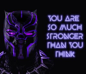 Black Panther and Quote by dddns