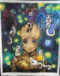 Groot and Gliders! by Ned-No-D