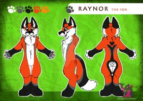 Raynor the fox - Reference sheet by FurryFursuitMaker