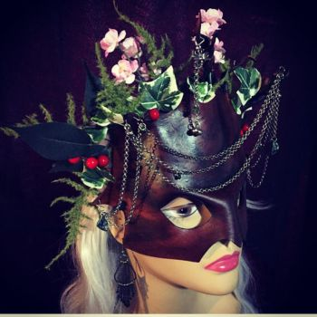 Midsummer Night's Dream Leather Mask by aGrimmDesign