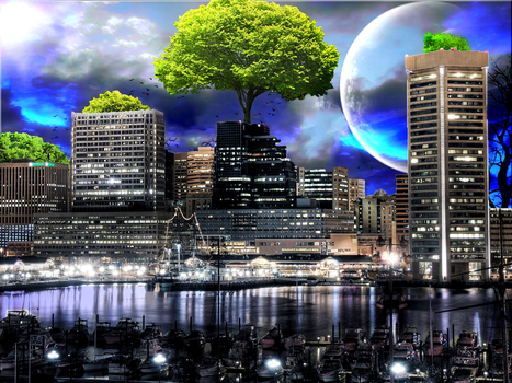 Eco Galactic City by TwinDenis