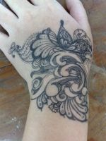 hand pen tattoo by Kitty9o