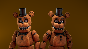 [FNAF SFM] WFreddy V2 and UNWFreddy by Trawert by half5life