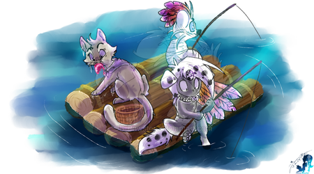 Fishing Day by JB-Pawstep