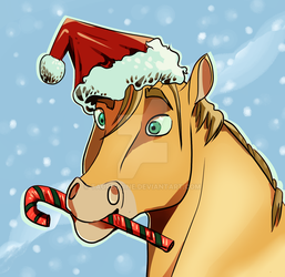 Happy Holiday Horse by taurequine