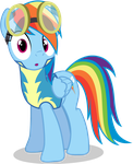Wonderbolt Cadet Shocked - Rainbow Dash by TomFraggle