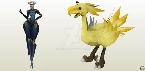 Camille LoL - Chocobo FF9 WIP! by alicestuff