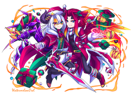 Holy Night Archdemons, Baal + Belial !! by WatermelonOwl