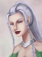 Practice portrait - 09-04 - elven princess by eschata