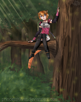 FE10 - Lyre in the trees by MissKilvas
